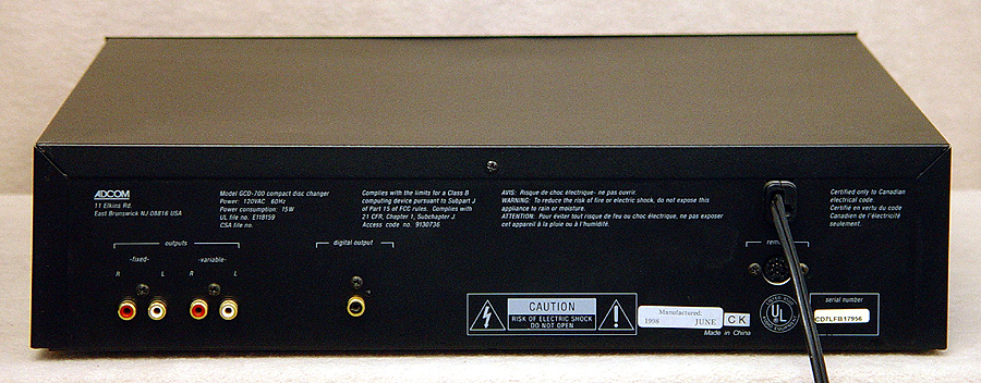 Adcom GCD-700 disc players