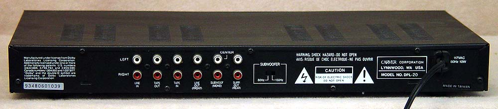 CARVER DPL-20 Surround Processors
