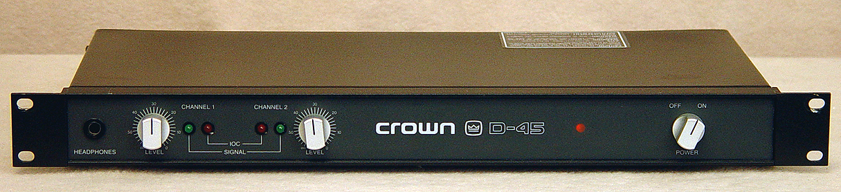 Crown D-45 power amplifiers