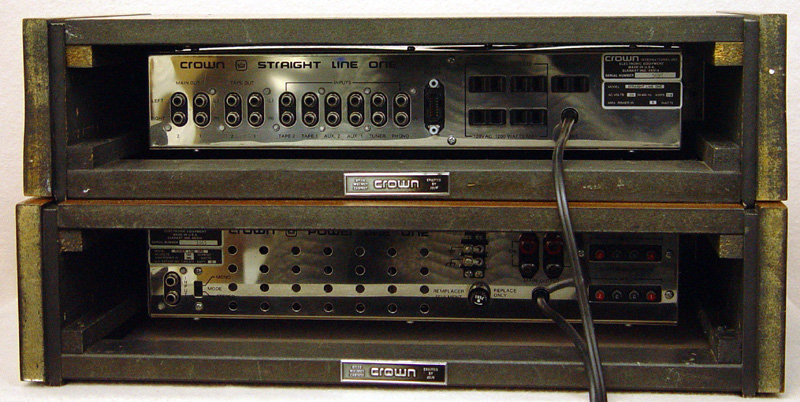 Crown Power Line One and Straight Line One power amplifiers
