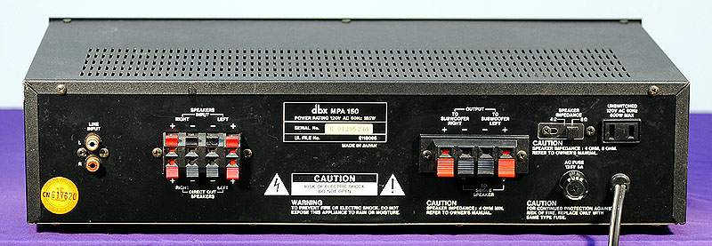 DBX MPA150 power amplifiers