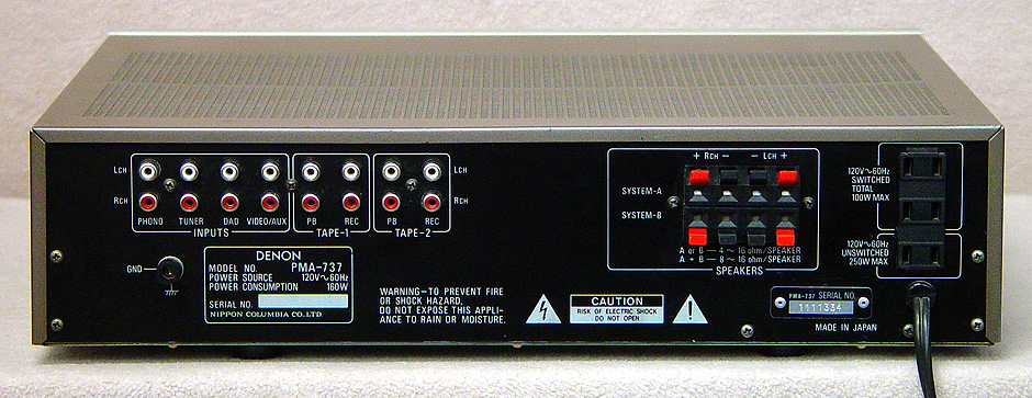 DENON PMA-737 Integrated Amps