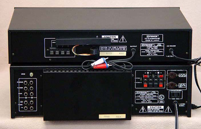 Fisher CA-810 + FM-600 integrated amps