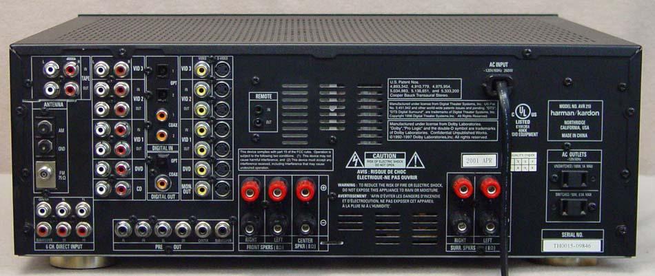 home theater receivers dolby surround sound receivers rh soundsclassic com Harman Kardon AVR 2700 Harman Kardon AVR 347