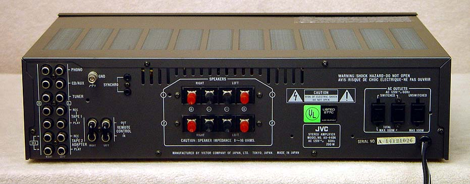 JVC AX-44BK Integrated Amps