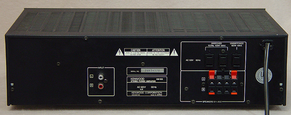 Kenwood KM-106 power amplifiers