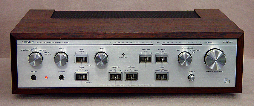 Luxman L-480 integrated amps