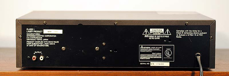 Mitsubishi DP-409R disc players
