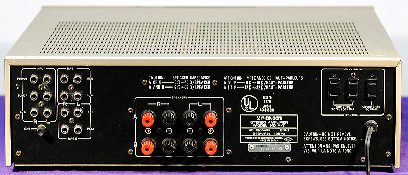 Pioneer A-7 integrated amps