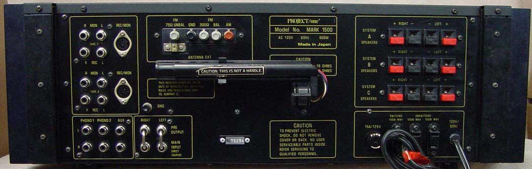 PROJECT ONE MARK 1500 Receivers