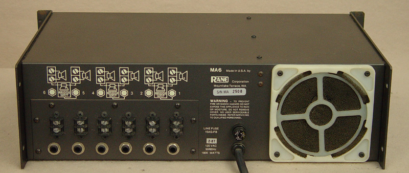 Rane MA6 power amplifiers