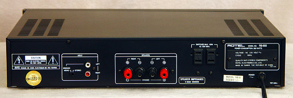 Rotel RB-850 power amplifiers
