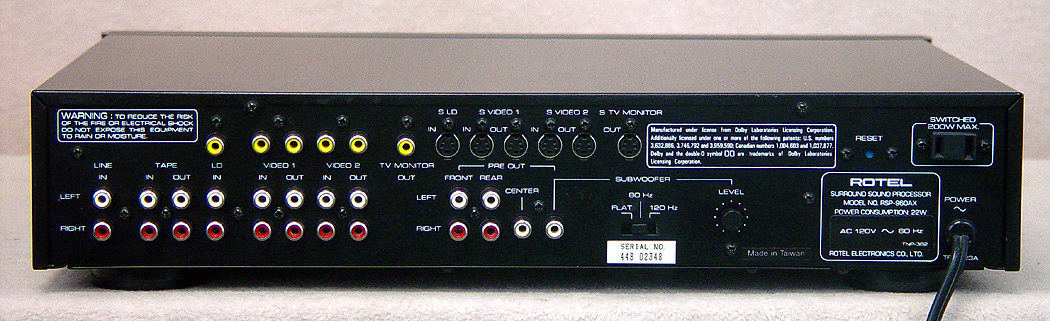 ROTEL RSP-960AX Preamps