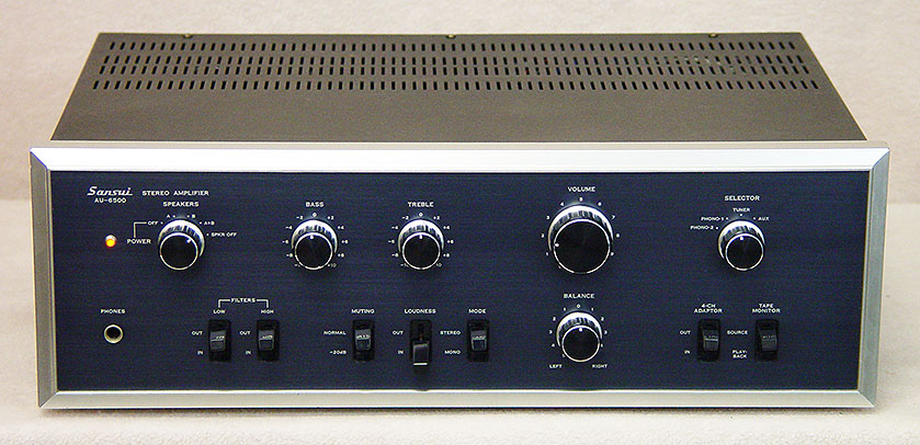 Sansui AU-6500 integrated amps