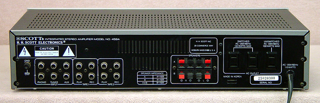 SCOTT 459A Integrated Amps