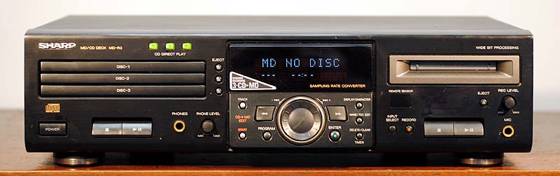 Sharp MD-R3 disc players