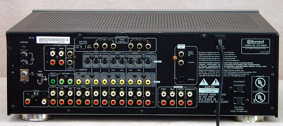 SHERWOOD AVP-9080R Surround Processors