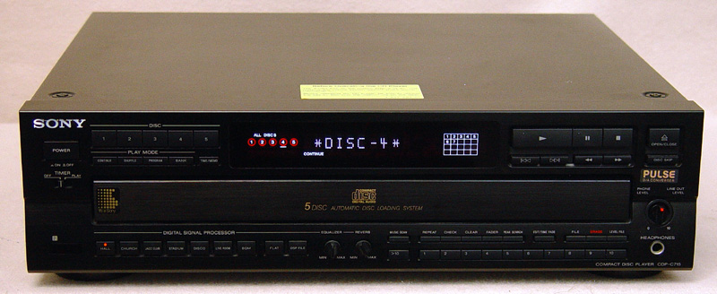 Sony CDP-C715 disc players