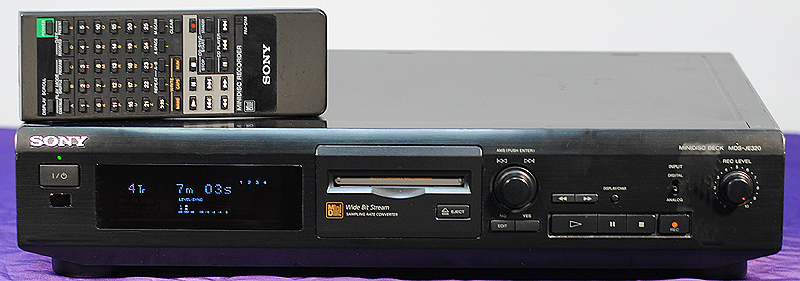 Sony MDS-JE320 disc players