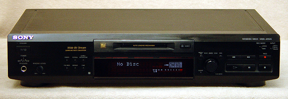 Sony MDS-JE520 disc players