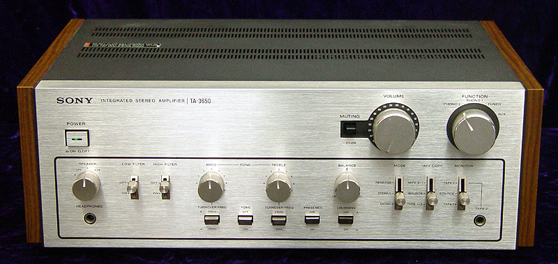 Sony TA-3650 integrated amps