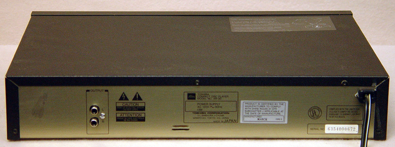 Toshiba XR-30 disc players