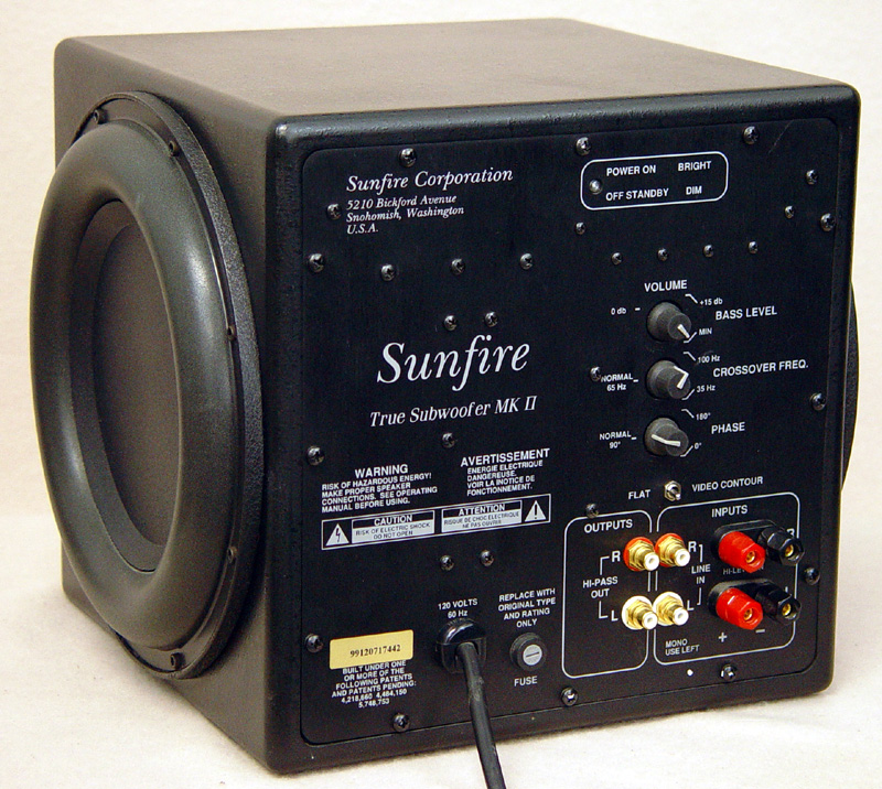 Sunfire True Subwoofer MK II subwoofers