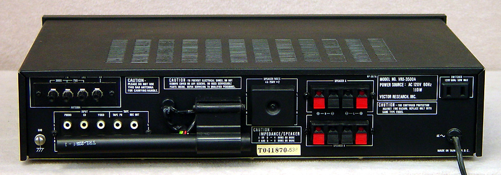 VECTOR RESEARCH VRX-3500A Receivers