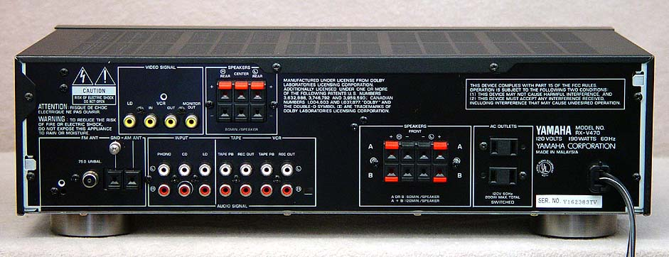 Yamaha Receiver Surround Sound With Phono And Line