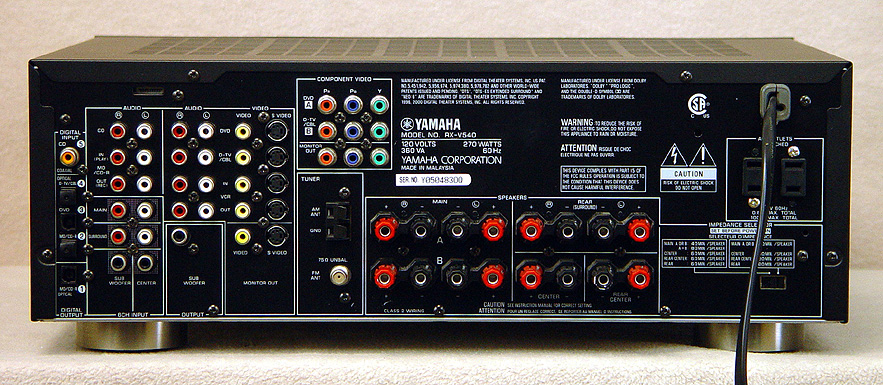 YAMAHA RX-V540 Surround Receivers