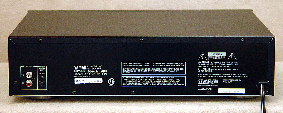 Yamaha CDC-665 disc players