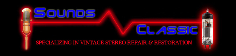 Vintage Stereo and Audio Systems, Speaker Repair and Stereo Service and Restoration is Soundsclassic Specialty. Vintage Turntables, Audio Amplifiers and Tube Equipment Sales.